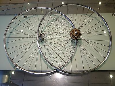 5 speed 27 inch rear wheel and front wheel