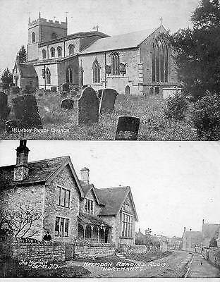 2 OLD POSTCARDS of HELMDON (NORTHAMPTONSHIRE)