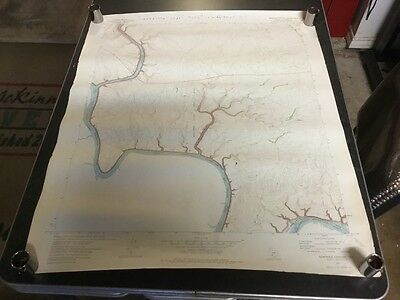 Vintage topographical map of Seminole Canyon, Texas 1972