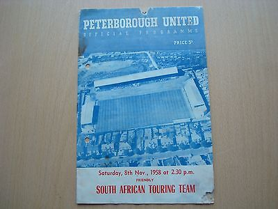 Peterbourgh United V South African Touring Team Nov 1958