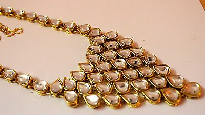 810 NEW  Women Gold Plated Kundan Stone Kamar Bandh  Waist Chain Belt