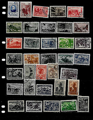 Russia: Nice 'mid Century' Stamp Lot Displayed On 5 Sheets  See Scans