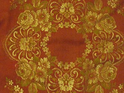 Vintage Victorian looking Tablecloth Burgundy and Gold