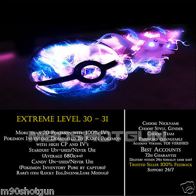 DEAL-Pokemon-Go-Extreme-Account-LVL-30-31 | HIGH CP&100% IV| Candies&Items+++