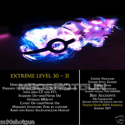DEAL-Pokemon-Go-Extreme-Avatar-LVL-30-31 | HIGH CP&100% IV| Candies&Items+++