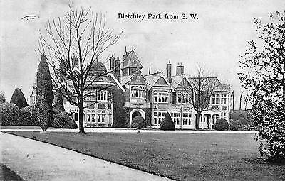 """OLD POSTCARD """"BLETCHLEY PARK from S.W."""" c1915"""