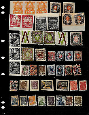 Russia: Nice 'early' Stamp Lot Displayed On 3 Sheets  See Scans