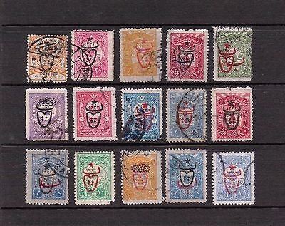 Stamps of Turkey used with bulls head overprint. $$$