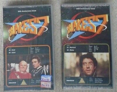 BLAKES 7 SEVEN VIDEO SET 20th ANNIVERSARY ISSUES - Episodes 49, 50, 51, 52