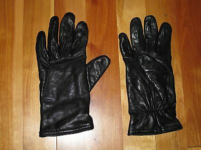 Thinsulate Black Leather Driving Gloves Women's Size Medium M