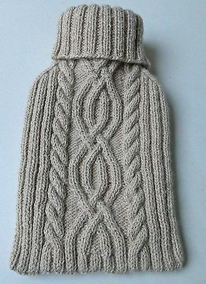 NEW! Luxurious Hand-Knitted Alpaca Large Hot Water Bottle Cover