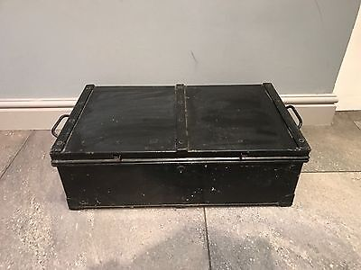 World War 2 WWII 1942 Eastgate & Son Strong Box Case Tin Trunk