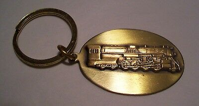 Brass Keyring With Train  Design Fob