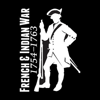 French and Indian War Vinyl Window Sticker (#003 F&I Soldier)