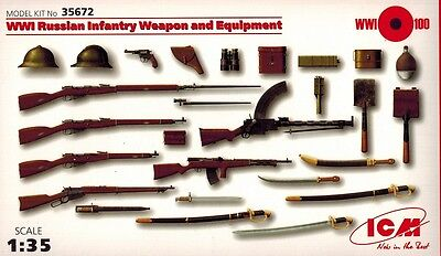 ICM 35672 - WWI Russian Infantry Weapon and Equipment - 1:35
