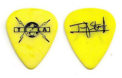 Tesla Tommy Skeoch Signature Yellow Guitar Pick - 1990s Tours