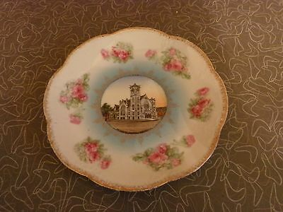 Antique Methodist Church Iowa City Iowa Souvenir Plate Made in Austria