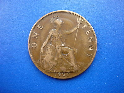 George V Penny 1920 POST FREE