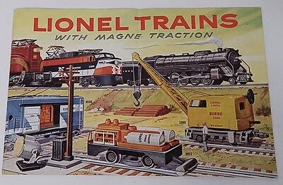 1956 Lionel Trains With Magne Traction Catalog - Usa