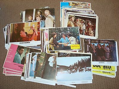 Large Lot  of 132 Collection of Movie Lobby Cards Mostly 1970 1980's plus others