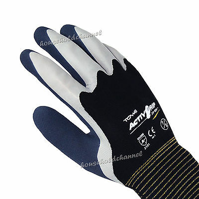 A Towa ActivGrip Latex Palm Coated Gloves XA324 Size Large