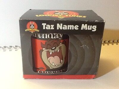 Original Taz Manian Devil Mug - Warner Brothers Looney Tunes In Box
