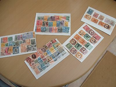 Lot of South America used stamps Peru & Haiti on small stock cards