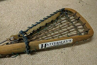 Vintage / retro Lacrosse stick by Hattersley's hickory and leather