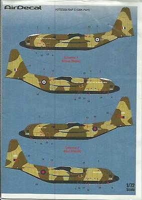 AirDecal decals 7224 C-130K Hercules early Royal Air Force decals in 1:72 Scale