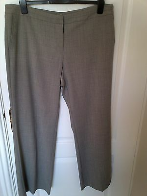Ladies Smart Pale Brown  Light weight Trousers M&S Size 18