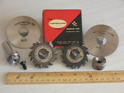 """.750"""" Slitting Saw Arbor & 5X Milling Cutters    ALL NEW!!!"""