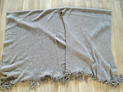 Ladies Taupe. Brown. Ribbed Knitted fitted Shawl / Wrap M&S