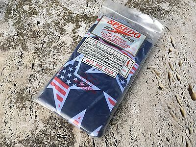 VINTAGE SPEEDO LADIES STARS & STRIPES JET STREAM RACER BACK NYLON SWIM WEAR 70s