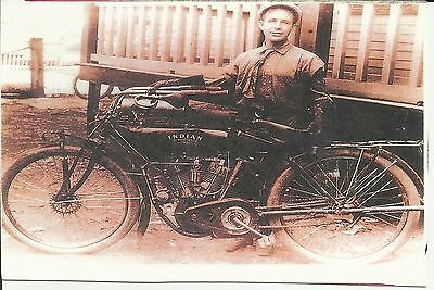 Postcard featuring Indian Motorcycle
