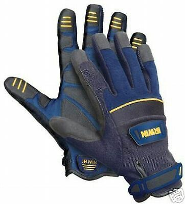 Irwin General Construction, Mechanic, Work Gloves, Large, Brand New.