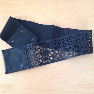 Womens Black Leather Belt Size S