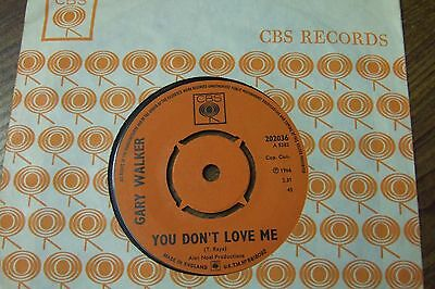 """Gary Walker - You Don't Love Me / Get It Right - Uk 7"""" Cbs 202036 / 1966 Ex+"""