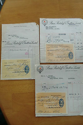 Three Bass Ratcliff & Gratton Brewery Invoices