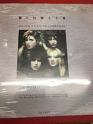 """THE BANGLES Going Down To Liverpool 1986 12"""" vinyl single 4 Track 45rpm"""