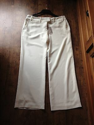 Pepperberry (Bravissimo) Cream/Off White Fully Lined Trousers Size 16