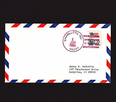 VERY RARE 1983 USAir First Flight CHARLOTTE - 18 EXIST!!       **FREE SHIPPING**