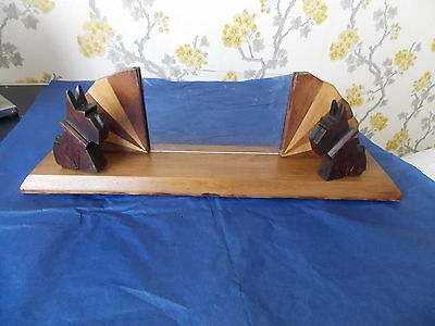 Vintage French 1930s/40s Scottie Dog Wooden Photo Frame