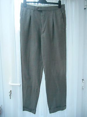 M&s Italian Pure New Wool Trousers Size 34 Inch