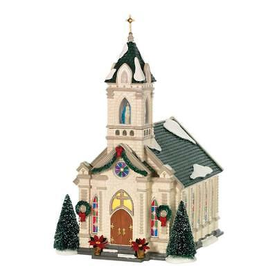 Department 56 Snow Village Our Lady of Grace Church Retired 805503