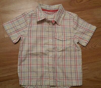 Boys 12-18 months pastel checked shirt