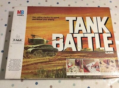 Vintage Tank Battle Board Game By Mb Games C.1976