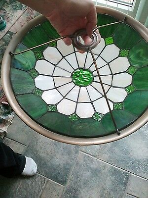 2X Tiffany Style Uplighter lamp shade glass ceiling light Pair the same.
