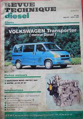 RTD revue technique VW Transporter T4 - Diesel 1.9 60ch - 5 cylindres 2.4 78ch