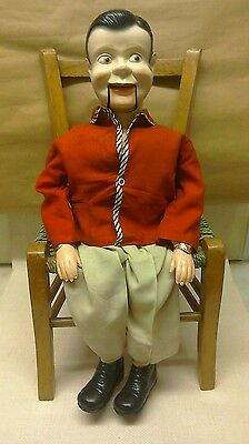 Vintage 1960s Jolly Jim Ventriloquist Dummy Made By Palitoy