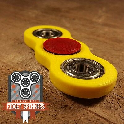 EDC Spinner Thick Dual Bar Fidget Toy with Caps (More Durable)